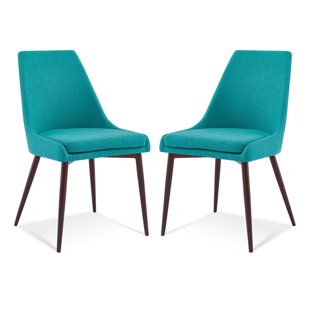 Set of 2 Roman Mid Century Dining Chair Teal - Poly & Bark Reviews