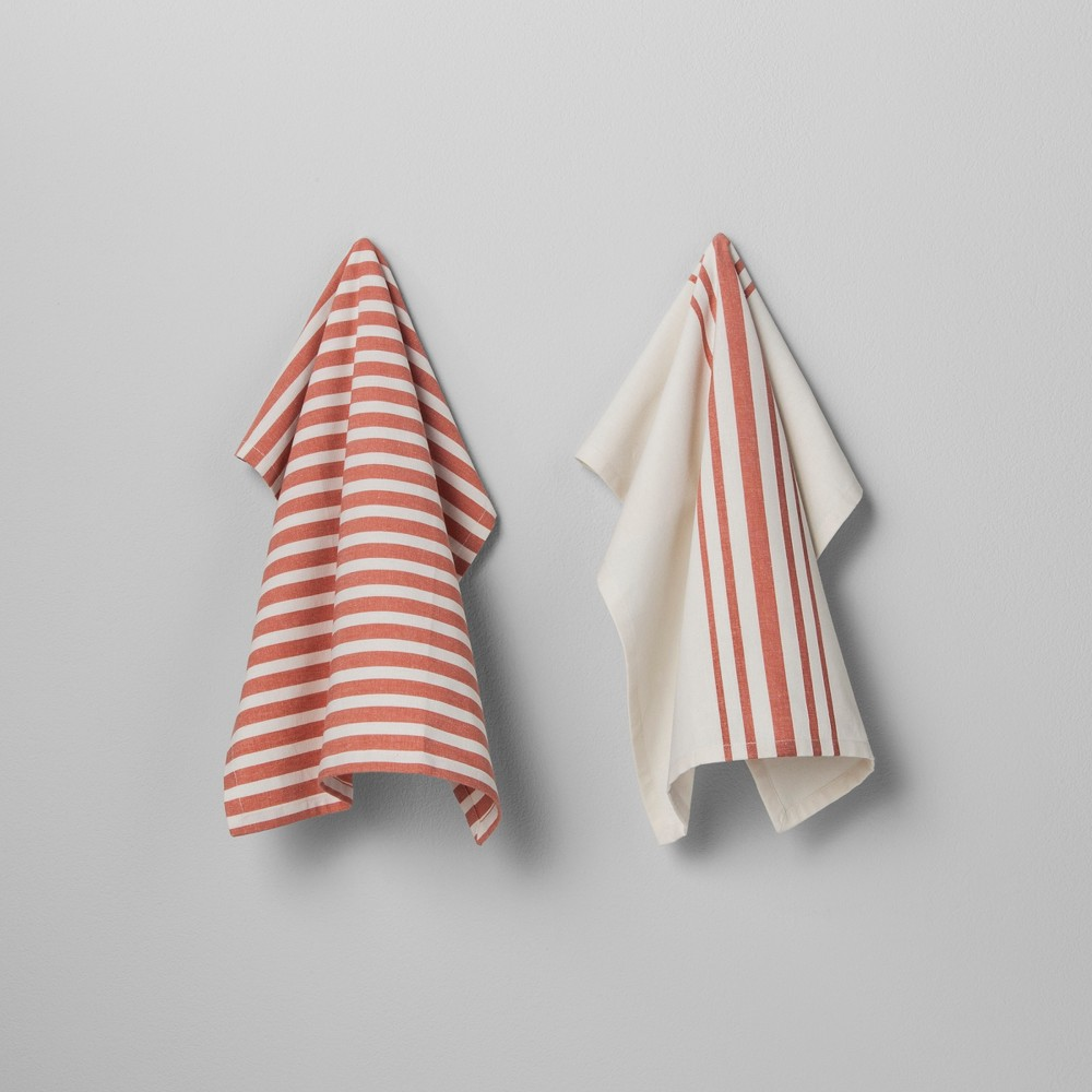 Kitchen Towel 2pk - Coral (Pink) - Hearth & Hand with Magnolia