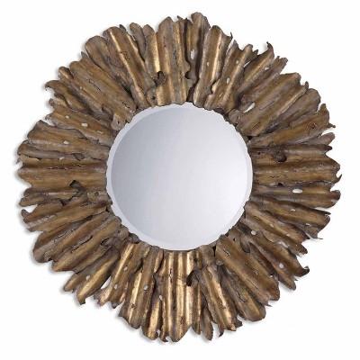 Sunburst Hemani Antique Gold Decorative Wall Mirror - Uttermost