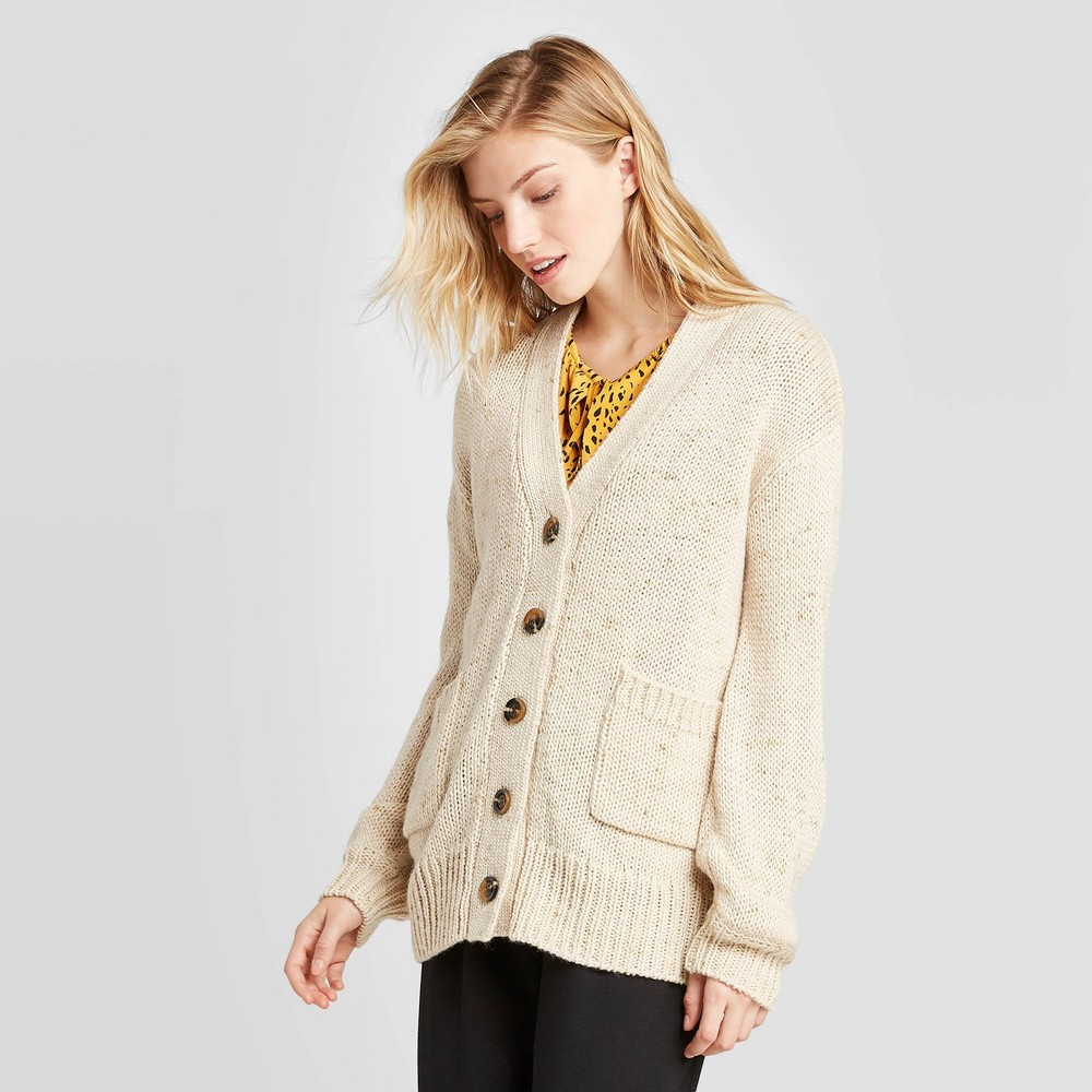 Women's Tinsel Puff Long Sleeve Cardigan - Who What Wear Brown XS was $36.99 now $25.89 (30.0% off)