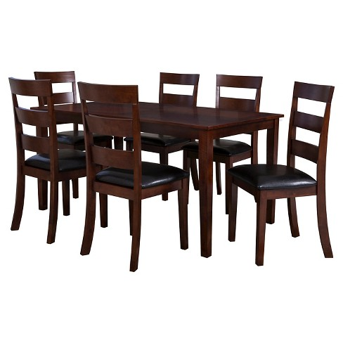 7pc Clinton Dining Set Cherry - Powell Company - image 1 of 1