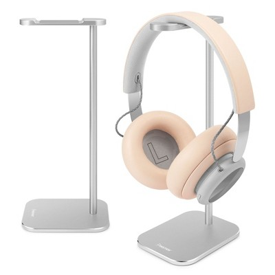 Insten Headphone Stand for Desk Home Office Gaming, Full Aluminum Headset Holder Hanger Perfect for All Size Headphones, Silver