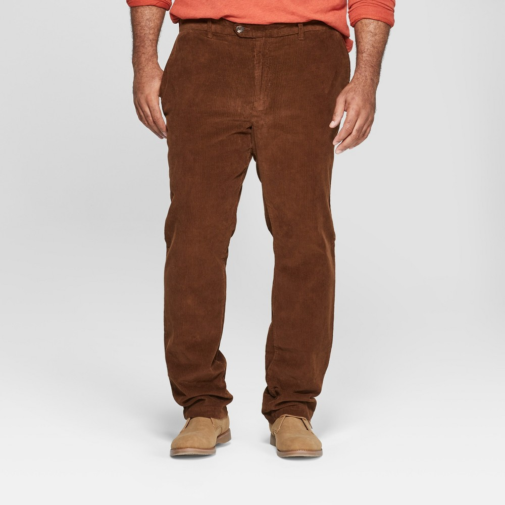 Men's Slim Fit Corduroy Trouser - Goodfellow & Co Stick Brown 31x32