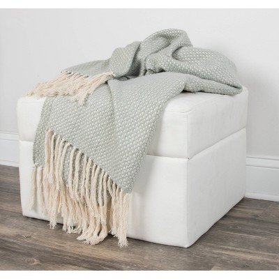 "50""x60"" Crosshatch Throw Blanket - Rizzy Home"