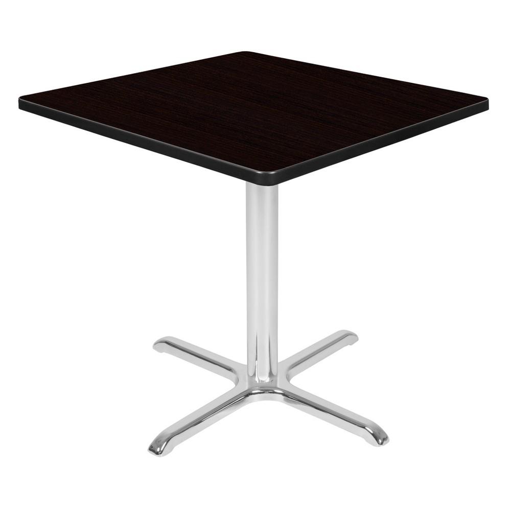 30 Via Square X - Base Table Espresso/Chrome (Brown/Grey) - Regency