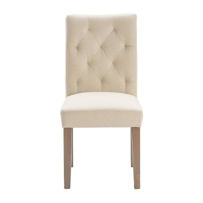 Set of 2 Westport Tufted Dining Chair Cream - Finch