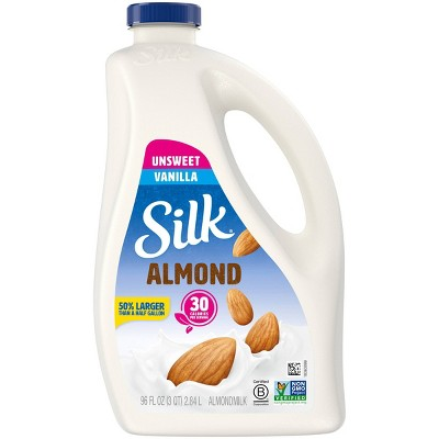 Silk Unsweetened Vanilla Almond Milk - 96 fl oz