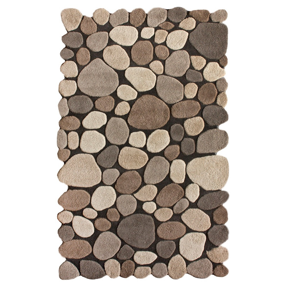 3 39 6 34 X5 39 6 34 Hand Tufted Pebbles Area Rug Natural Nuloom