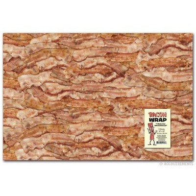 Accoutrements Bacon Gift Wrapping Paper
