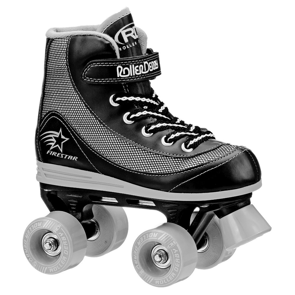 Firestar Boys Roller Skates - Black (2), Black Gray