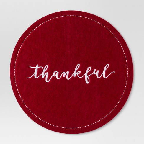 Red Thankful Placemat - Threshold™ - image 1 of 1