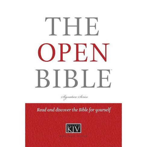 Open Bible-KJV - by  Thomas Nelson (Hardcover) - image 1 of 1