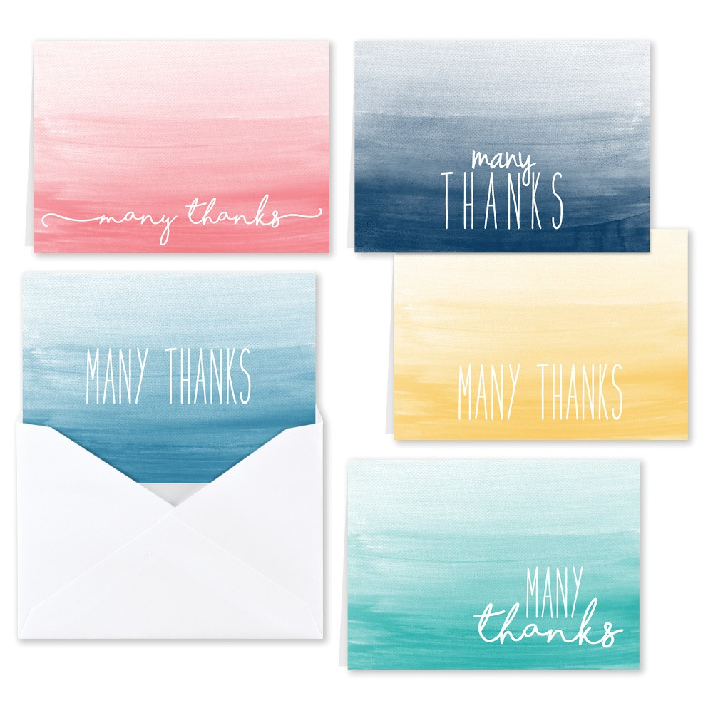 25ct Many Thanks Ombre Thank You Set, Multi-Colored