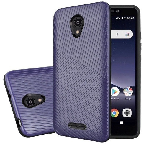 Insten Textured Embossed Lines Hard Hybrid Plastic TPU Cover Case For Alcatel Insight - image 1 of 3