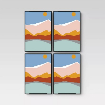 "4"" X 6"" Set of 4 Format Frames Black - Room Essentials™"