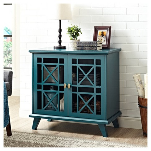 "32"" Fretwork Accent Console - Saracina Home - image 1 of 3"