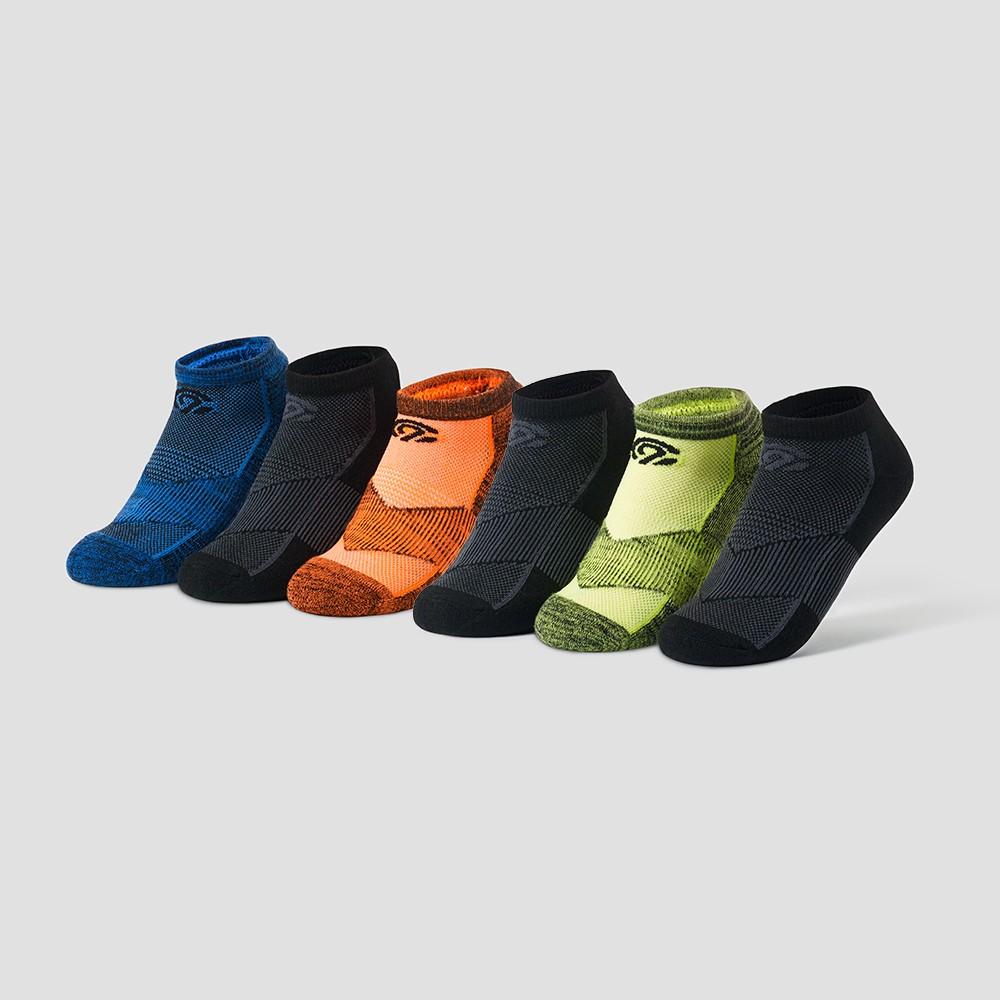 Boys' 6pk Low Cut Socks - C9 Champion L, Multi-Colored