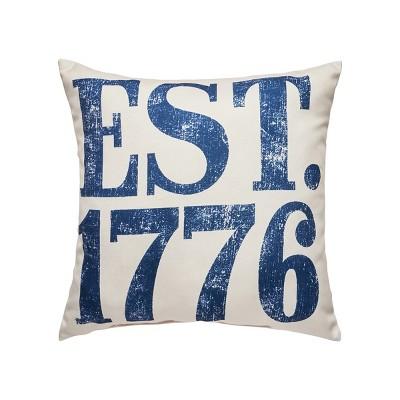 """C&F Home 18"""" x 18"""" Established in 1776 Indoor/Outdoor Patriotic Decorative Throw Pillow"""