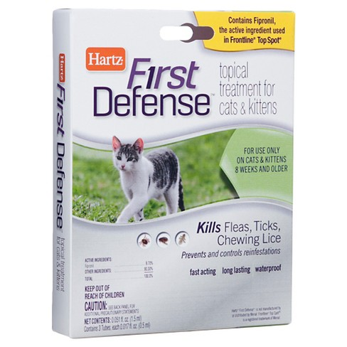 Hartz Flea & Tick First Defense Topical Treatment for Cats & Kittens - image 1 of 1