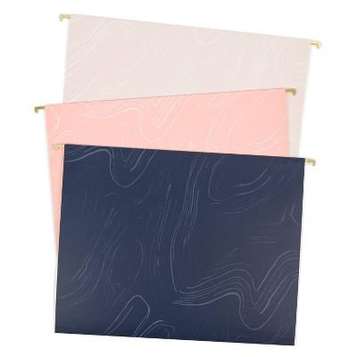 U Brands 6ct Hanging File Folders Natural Contours