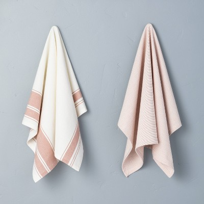 2pk Kitchen Towel Set Rose Gold - Hearth & Hand™ with Magnolia