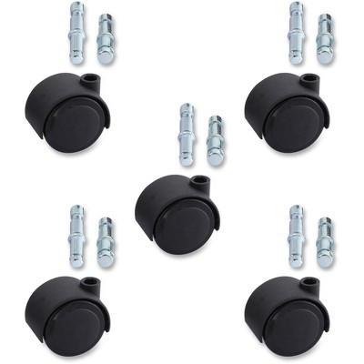 Lorell Soft Wheel Casters Set Dual Hood 5/ST Black 33446