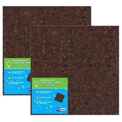 """8ct 12"""" Cork Board Tiles - Flipside"""