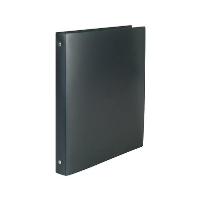 Staples Simply .5-inch Round Ring Poly Binder Black (15148-CC)