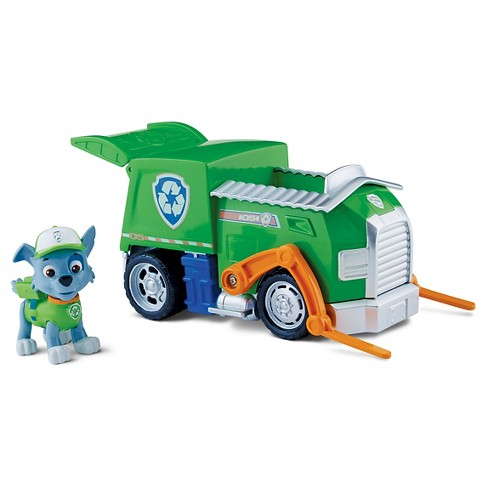 Paw Patrol Rocky's Recycling Truck Vehicle and Figure - image 1 of 3