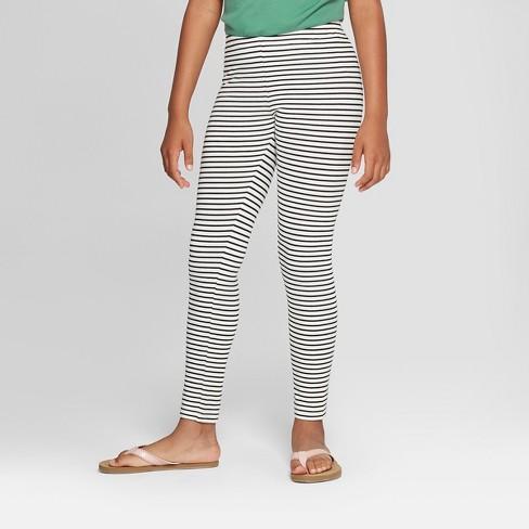 89e61ccd8ed2ac Girls' Stripe Print Leggings - Cat & Jack™ Black/White : Target