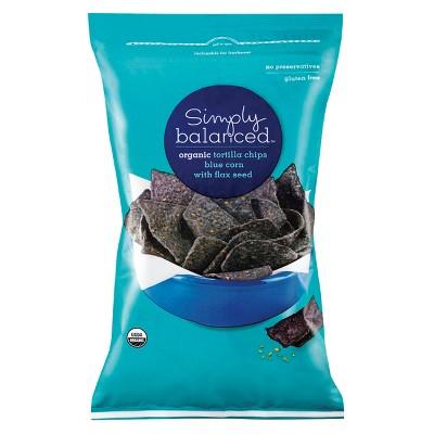 Organic Blue Corn With Flax Seed Tortilla Chips - 12oz - Simply Balanced™
