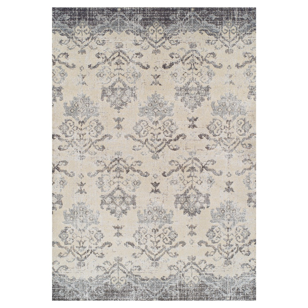 Light Brown Solid Woven Area Rug 5'3