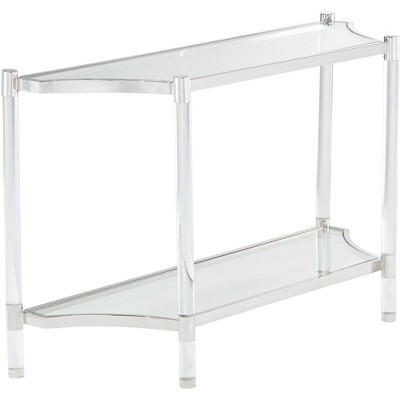 """55 Downing Street Erica 48"""" Wide Clear Acrylic Console Table"""