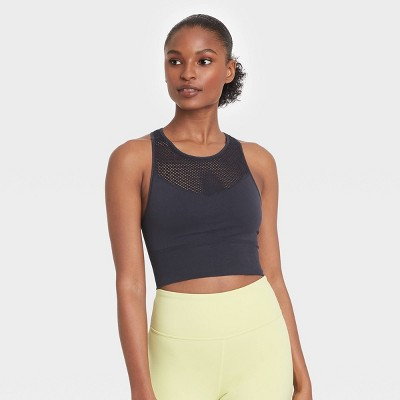 Women's Seamless High Neck Longline Bra - JoyLab™