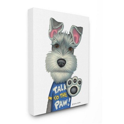 Stupell Industries Sassy Scotty Dog 'Talk to the Paw' Quote Family Pet