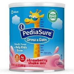 PediaSure Grow & Gain Non-GMO Shake Mix Strawberry Powder - 14.1oz