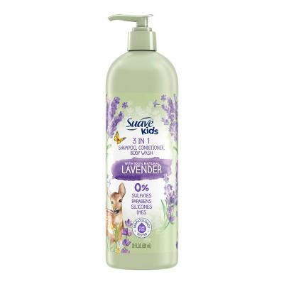 Suave Kids' Naturals Lavender 3-in-1 Shampoo Conditioner & Body Wash - 20 fl oz