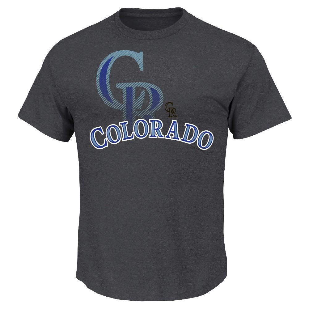 Colorado Rockies Men's Charcoal Heather T-Shirt S