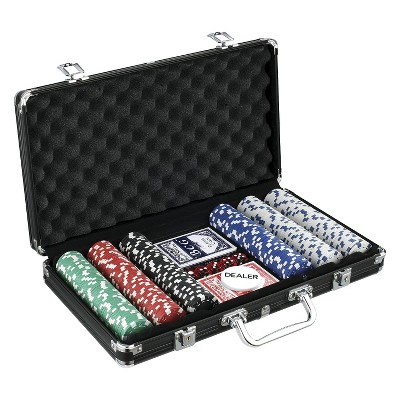 John N. Hansen 300 Chip Poker Game Set