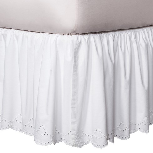 White Eyelet Bed Skirt Simply Shabby Chic