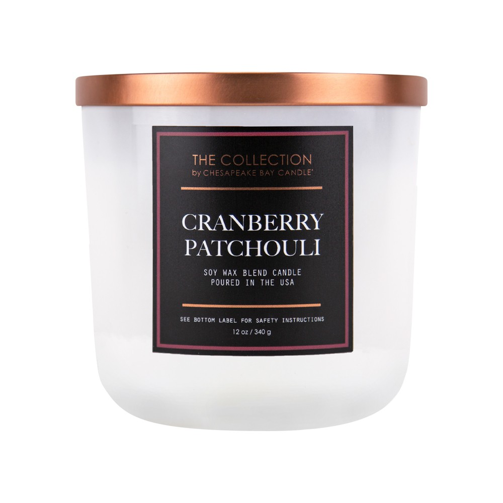 Image of 12oz Core Jar 2-Wick Candle Cranberry Patchouli - Chesapeake Bay Candle, White