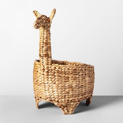 "21.8"" x 11.4"" Decorative Water Hyacinth Llama Basket Natural - Opalhouse™ - image 1 of 2"