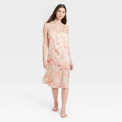Women's Tie-Dye Satin Nightgown - Stars Above™ Pink