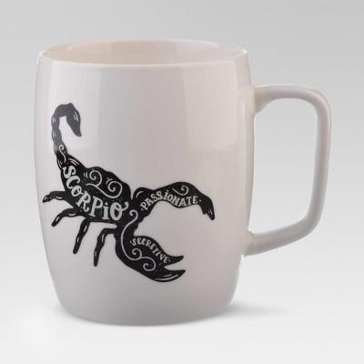 Porcelain Zodiac Scorpio Mug 18oz White - Threshold™