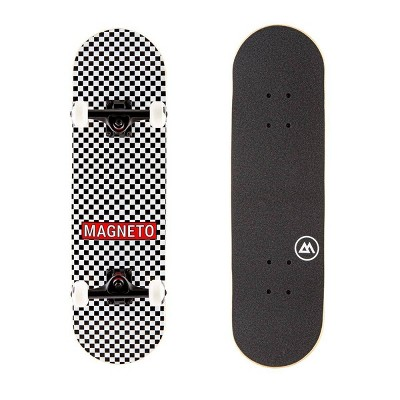 "Magneto Boards 27.5"" Kids' Skateboard - Checker"
