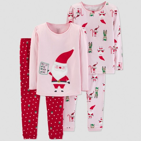 33a214c24 Toddler Girls  4pc Santa s List Pajama Set - Just One You® Made By ...
