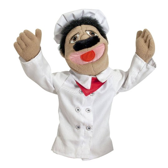 Melissa & Doug Chef Puppet With Detachable Wooden Rod image number null