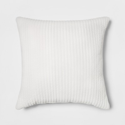 Quilted Velvet Oversize Square Throw Pillow Cream - Project 62™