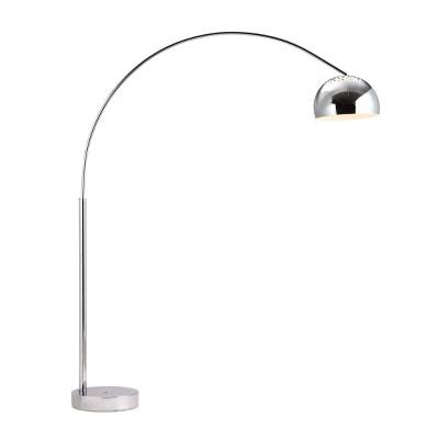 """Modern 80"""" Chrome Floor Lamp Chrome  - ZM Home"""