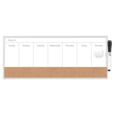 Ubrands® Magnetic Dry Erase Weekly Planner 7.5 x18  White